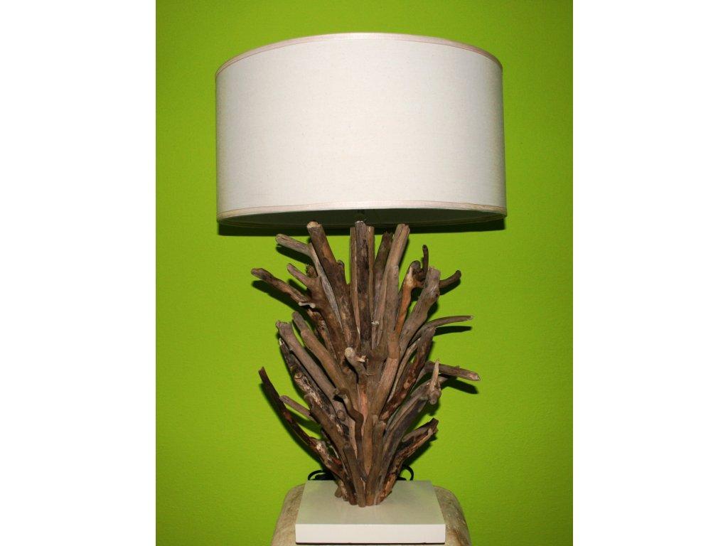 Originální stolní lampa z vyplaveného dřeva 70cm model D