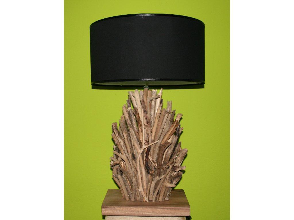 Originální stolní lampa z vyplaveného dřeva 70cm model C