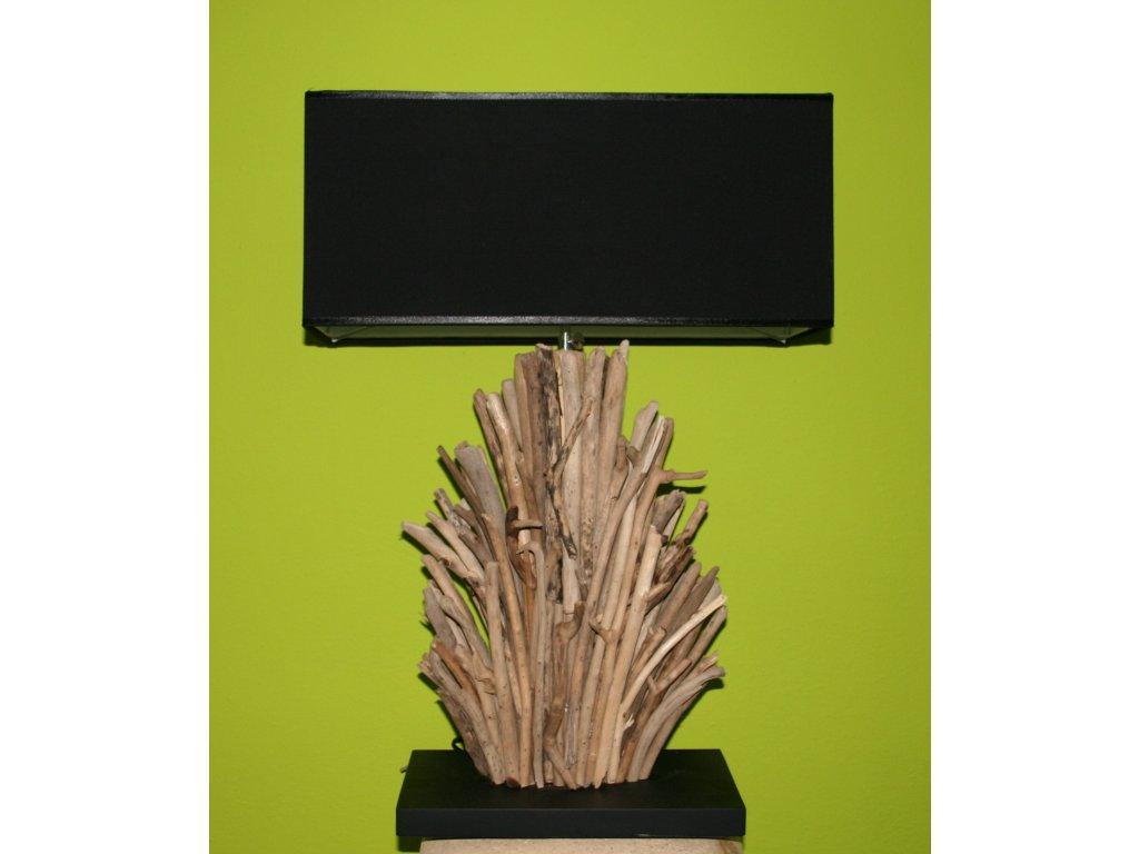 Originální stolní lampa z vyplaveného dřeva 70cm model A
