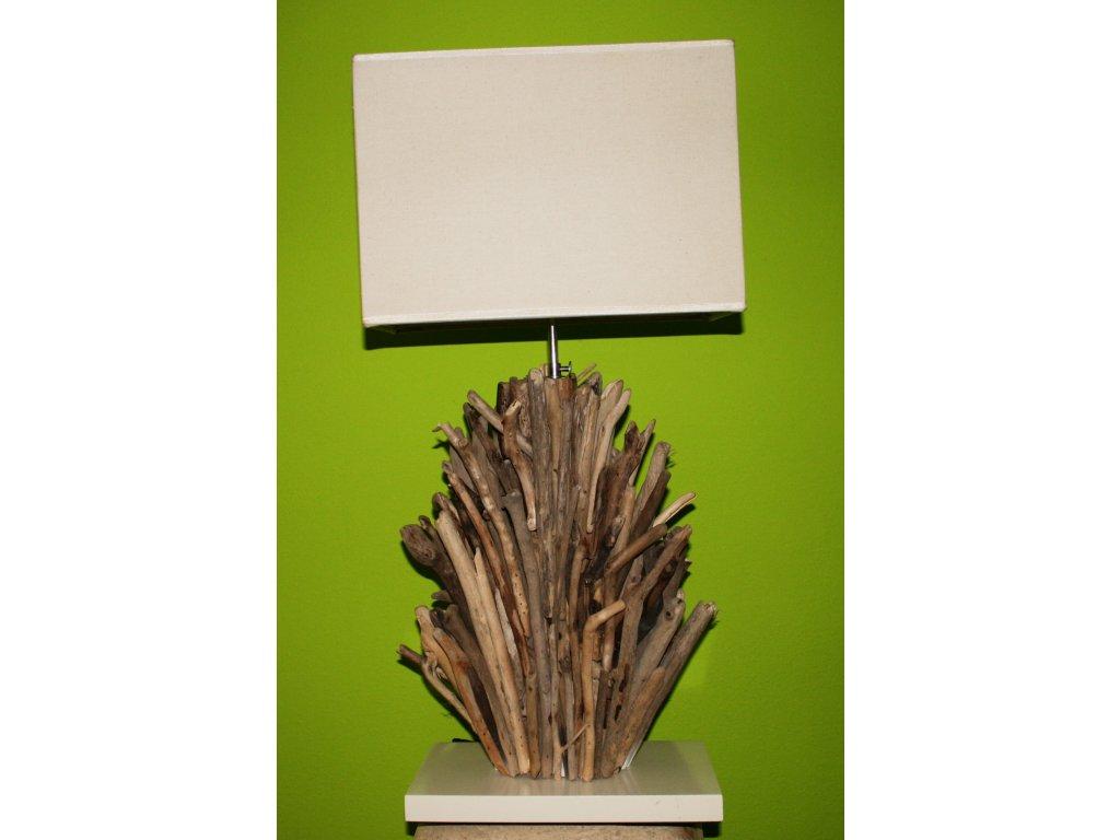 Originální stolní lampa z vyplaveného dřeva 70cm model B