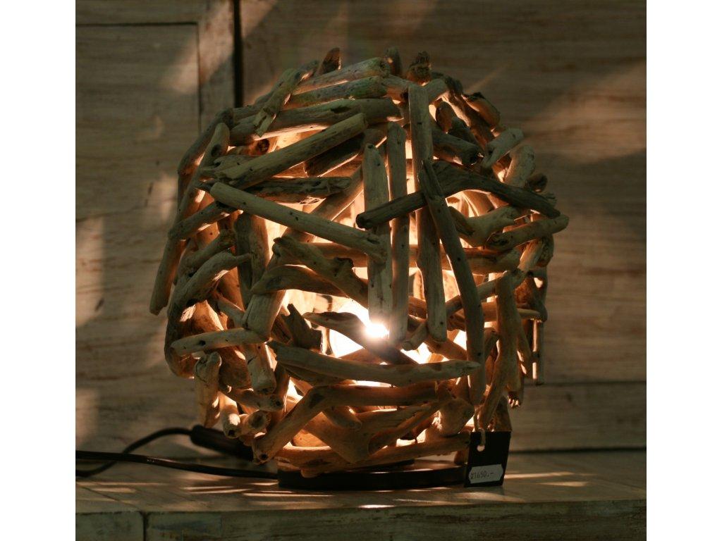Lampa z vyplaveného dřeva Čapí hnízdo průměr 30cm