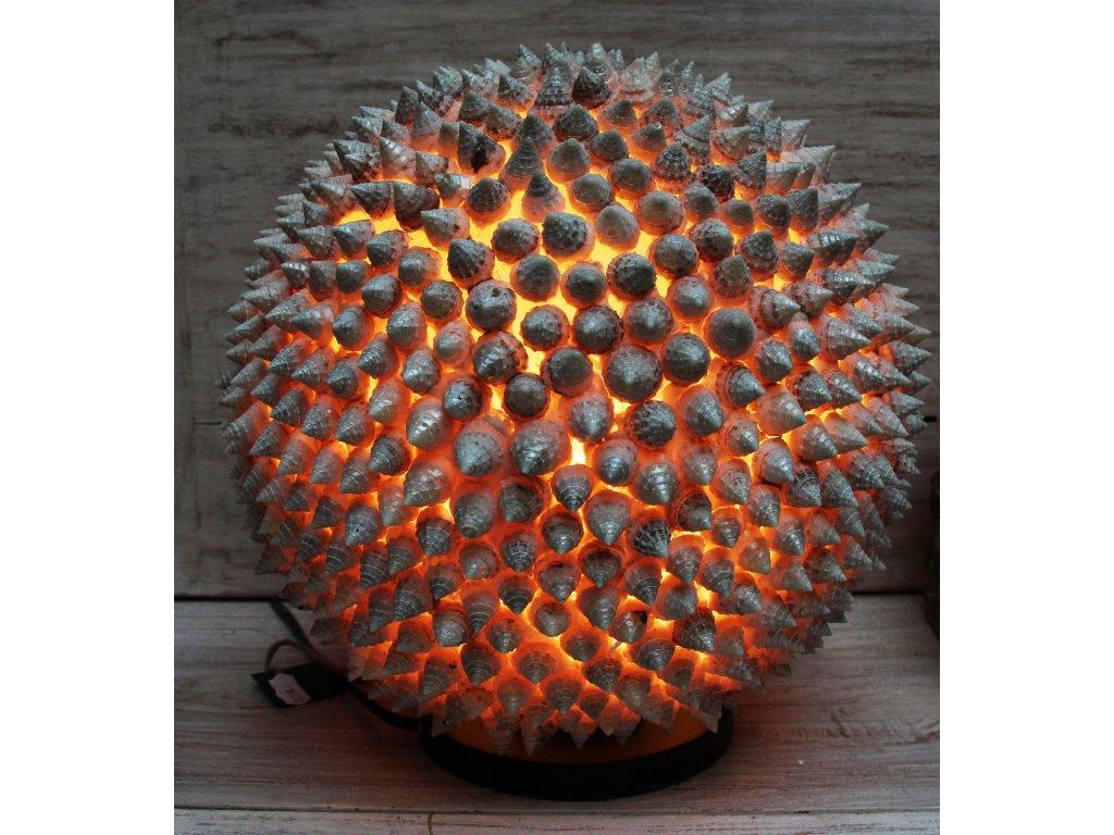 Stolní lampa z mušlí ve tvaru koule 28cm