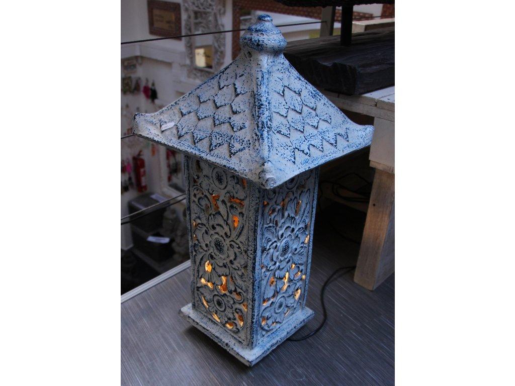 Orientální lampa pagoda - svítilna 67x23x23cm