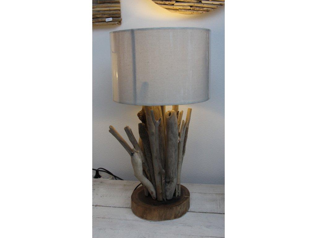 Lampa z vyplaveného dřeva průměr 30cm výška 57cm