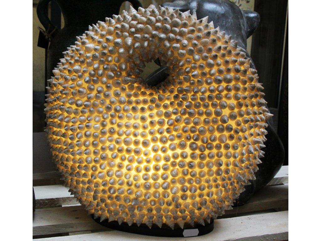 Stolní lampa z mušlí 36cm