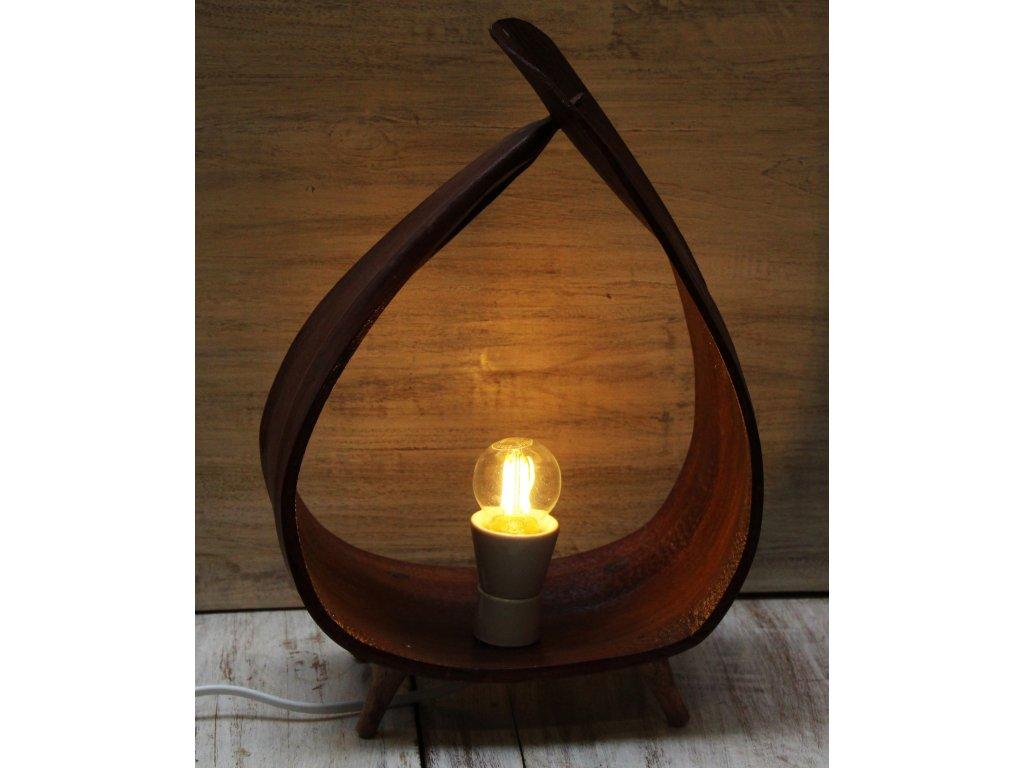 Stolní lampa z palmového listu 40cm