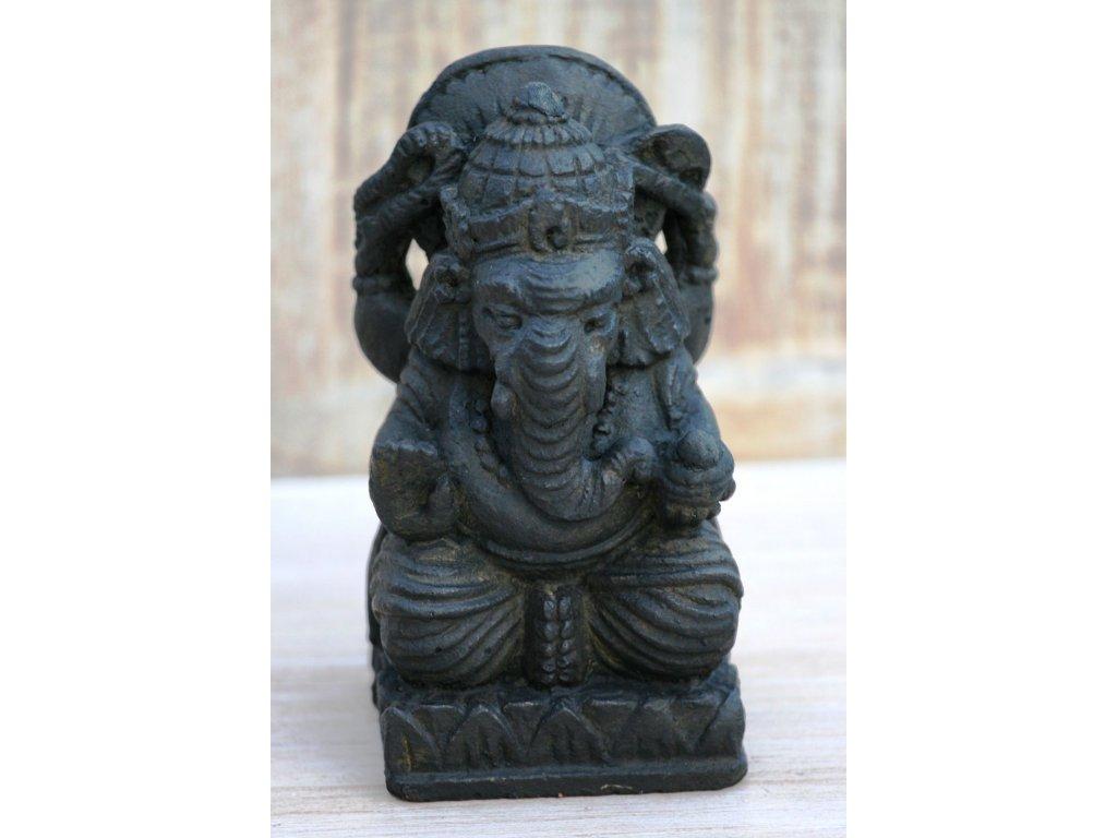 Socha Ganesha 15cm patina DB