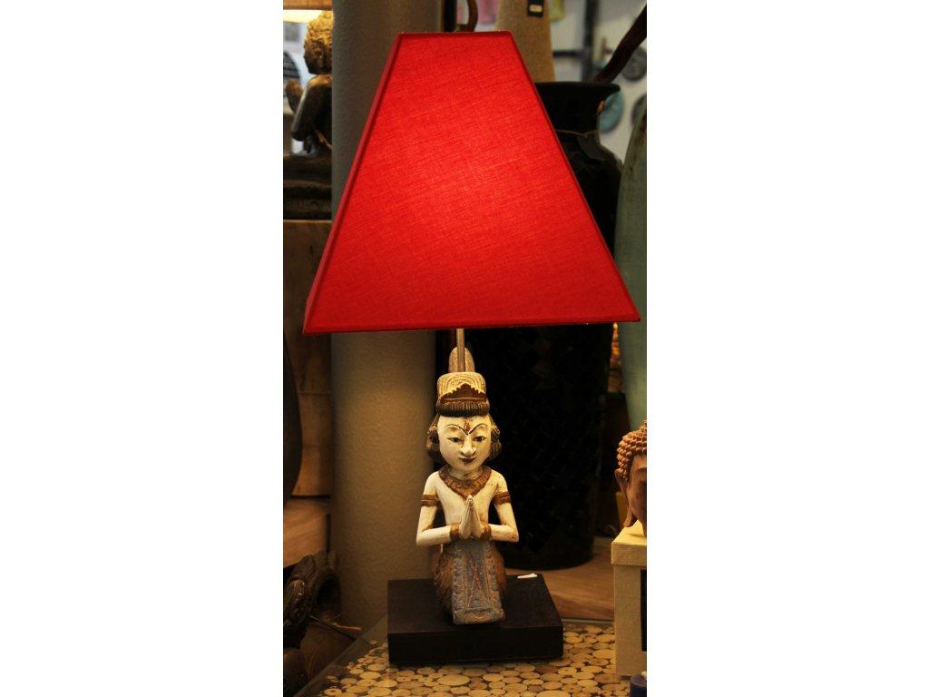 Lampa Antik hadí žena 70cm červená