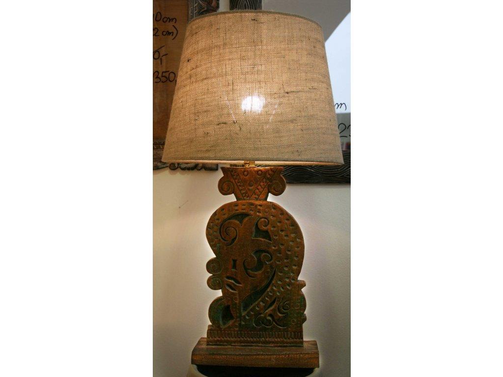 Lampa antik - recyklovaný teak s nastavitelnou výškou 83cm