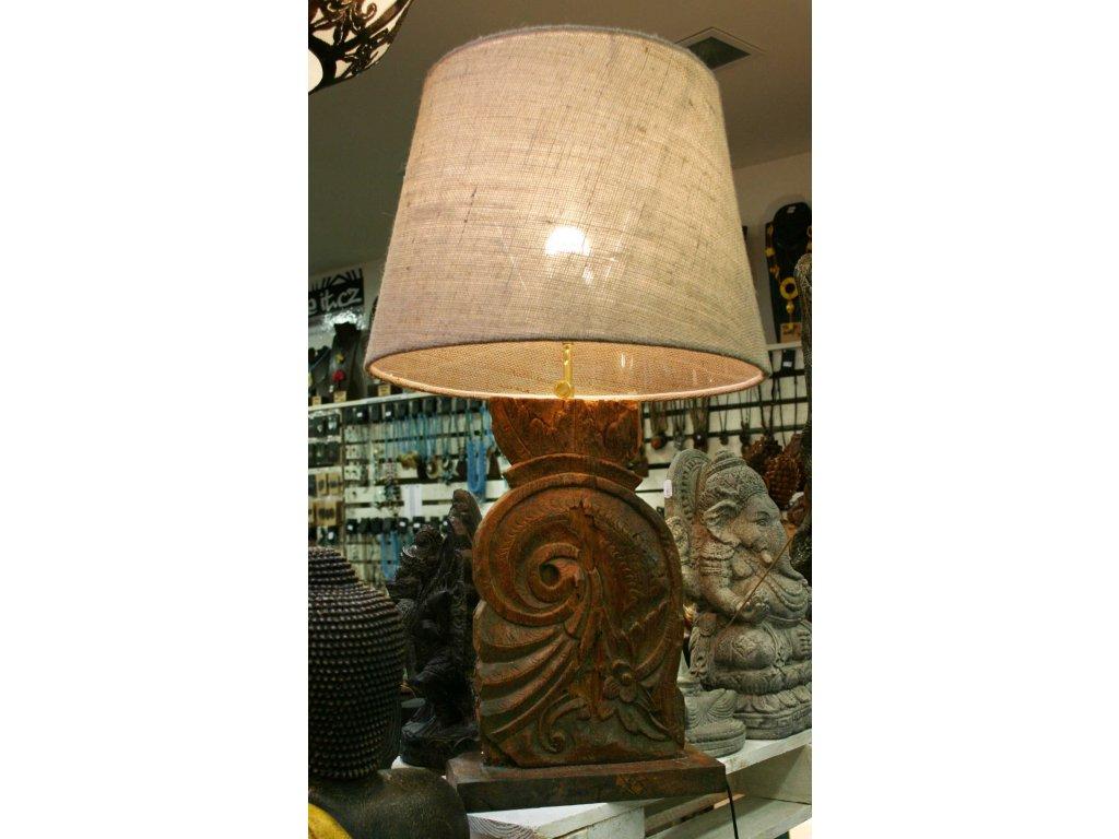 Lampa antik - recyklovaný teak s nastavitelnou výškou 79cm