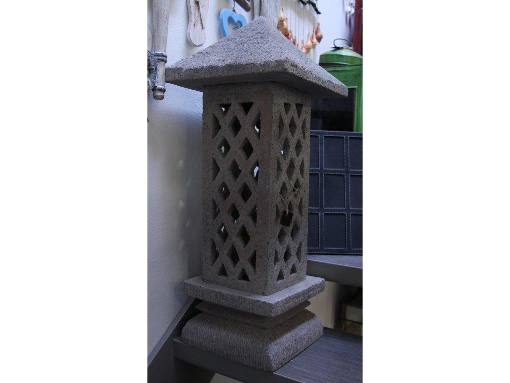 Orientální zahradní lampa pagoda - svítilna 75x30x30cm