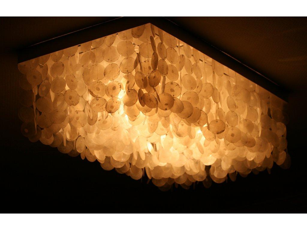 Originální nerez lustr s perletí 100x55x30cm