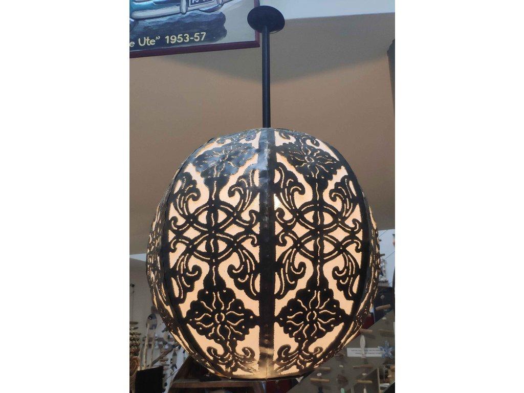 Kovový lustr Aladin 45cm Black