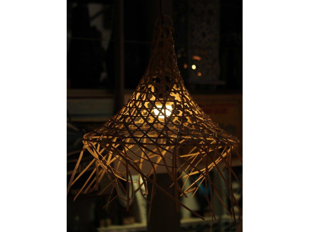 Lustr - lustrové stínidlo bambus 33cm, pr. 40-41cm