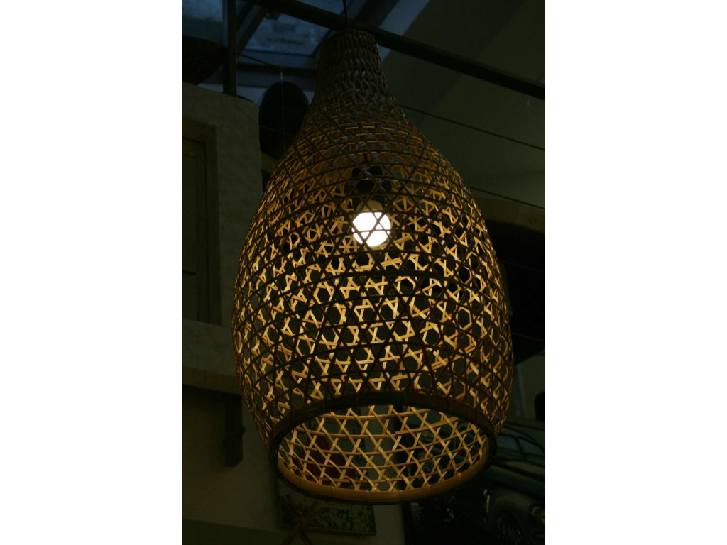 Lustr - lustrové stínidlo bambus 60cm, pr. 30-32cm