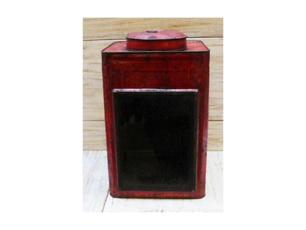 Retrolampa-lucerna Krupuk 24x24x44cm červená