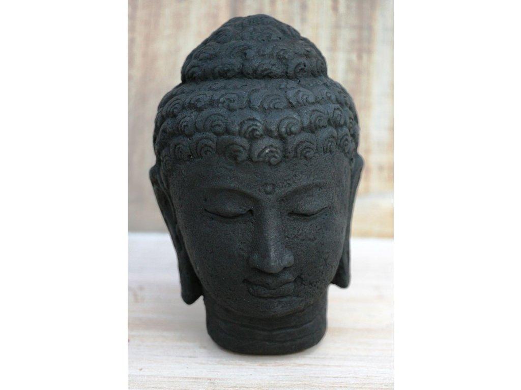 Socha Budha Buddha hlava 15cm patina DB