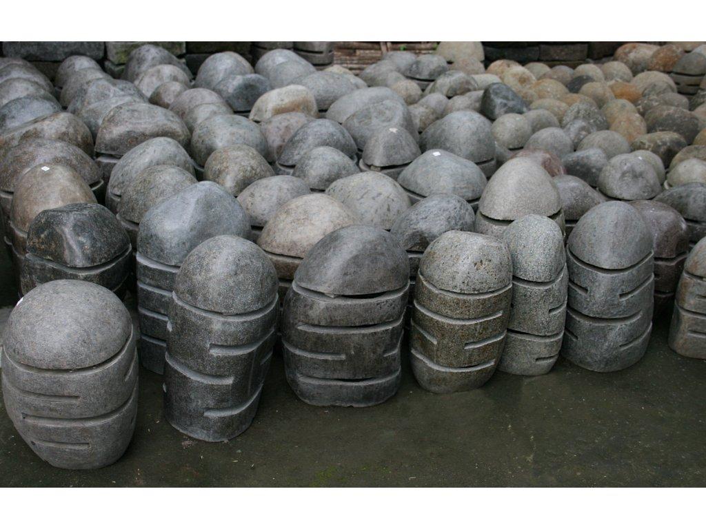 Lampa říční kámen - čedič 50cm lesk