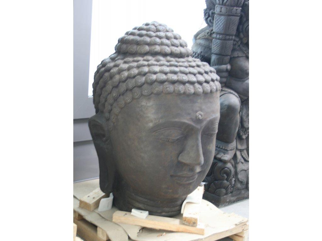 Socha Budha Buddha hlava 75cm patina DB