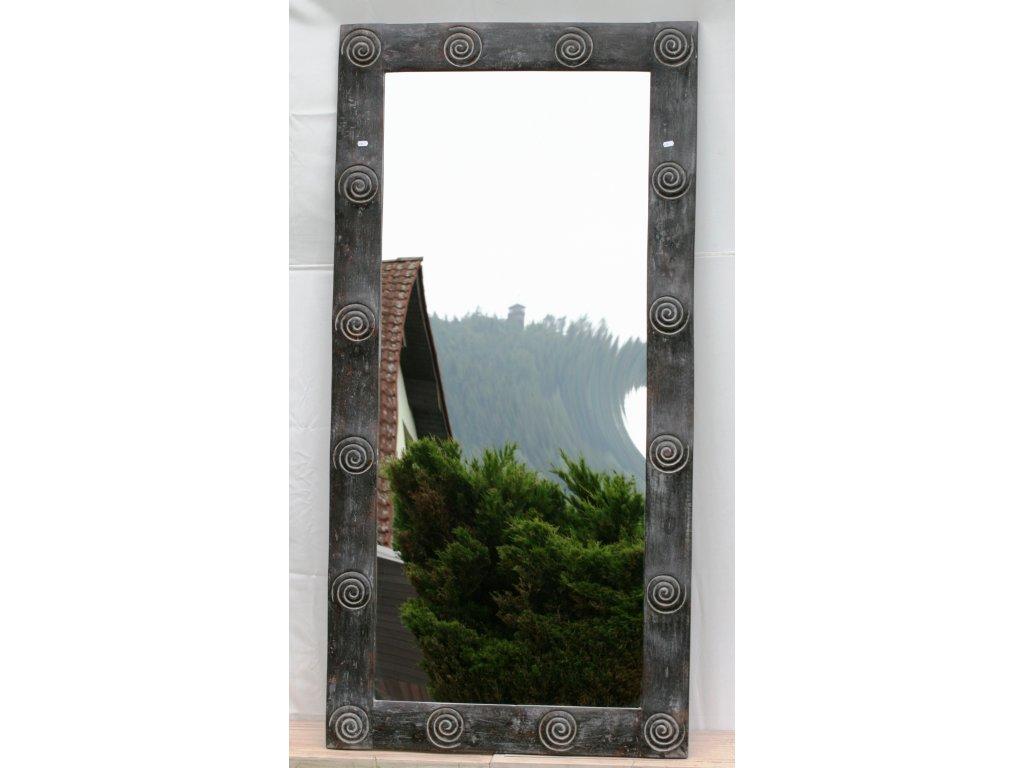 Dřevěné zrcadlo masiv s řezbou model 60 180x90cm