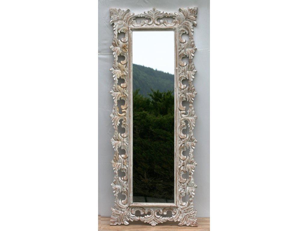 Dřevěné zrcadlo masiv s řezbou model 20 150x60cm