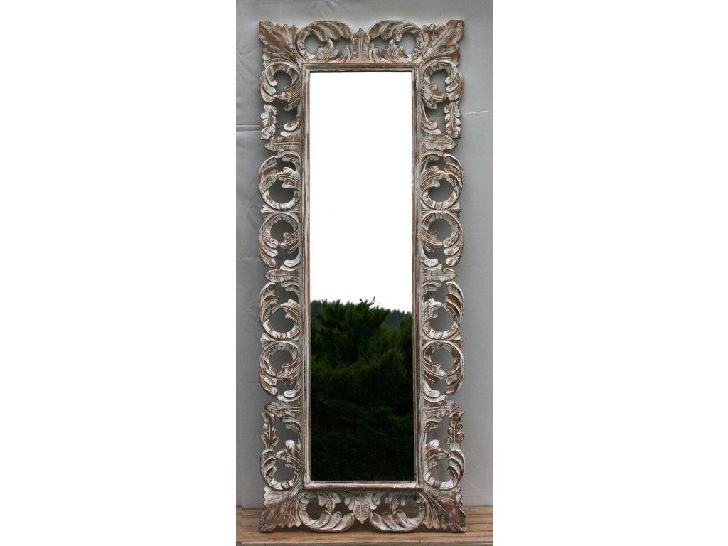 Dřevěné zrcadlo masiv s řezbou model 19 150x60cm