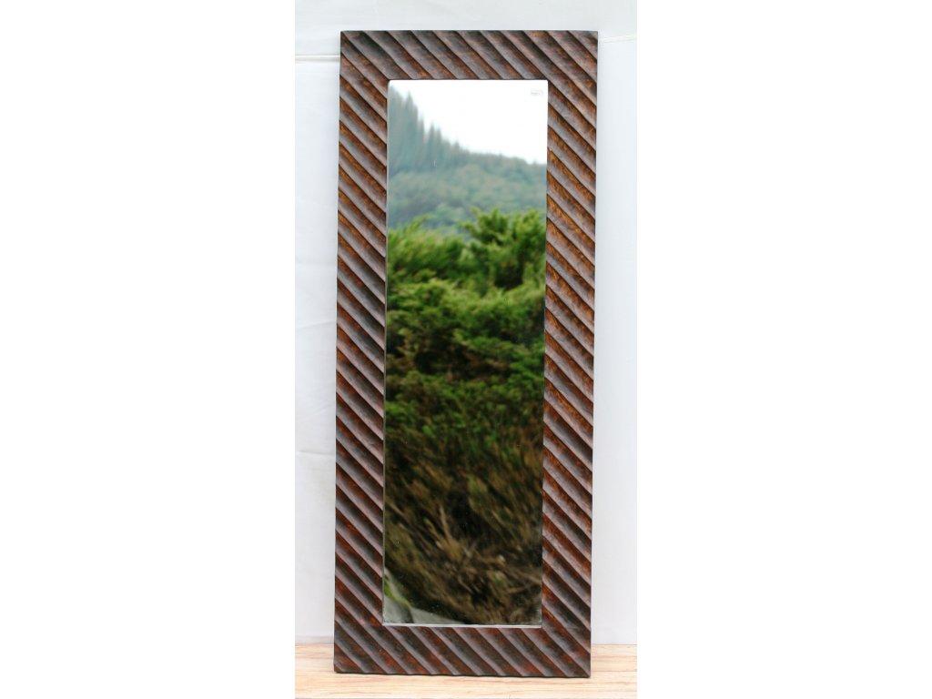Dřevěné zrcadlo masiv s řezbou model 30 125x50cm