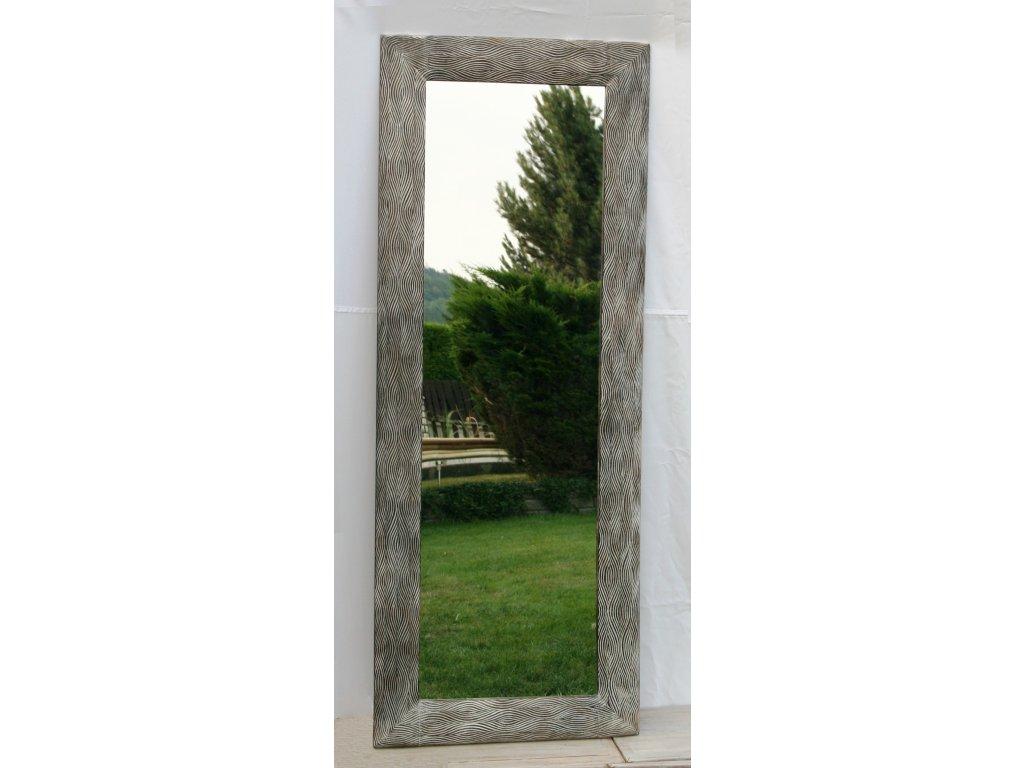 Dřevěné zrcadlo masiv s řezbou model 26 180x70cm
