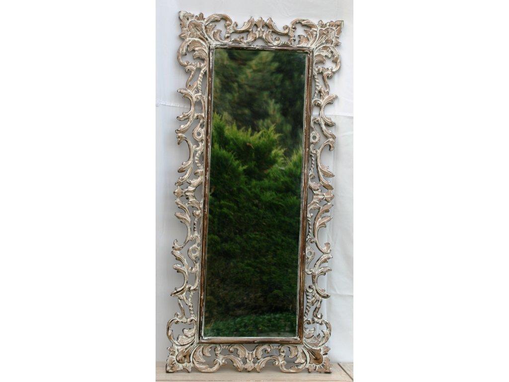Dřevěné zrcadlo masiv s řezbou model 65 150x70cm
