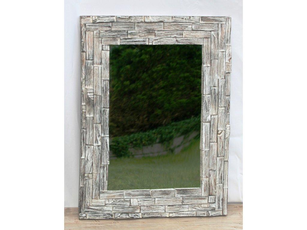 Dřevěné zrcadlo masiv teak model 29 80x60cm