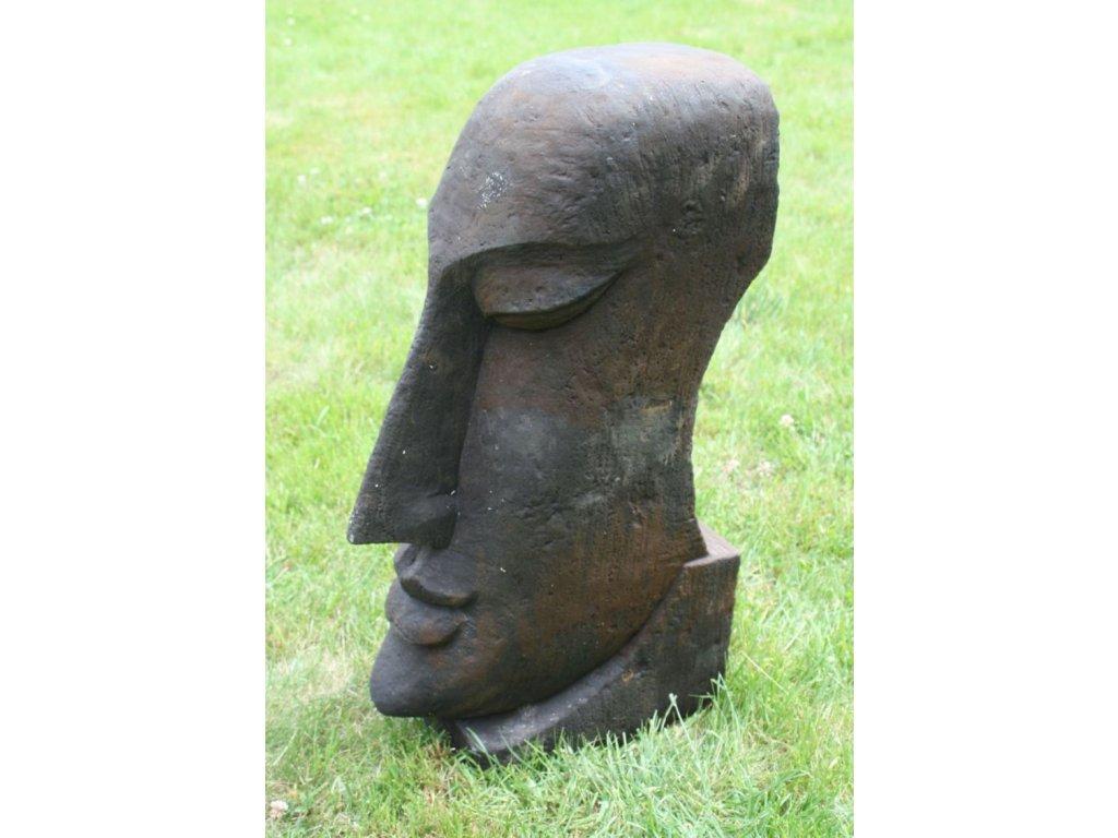 Socha VELIKONOČNÍ OSTROVY Moai 60cm patina DB