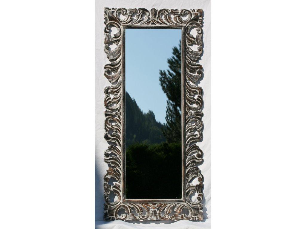 Dřevěné zrcadlo masiv s řezbou model 03 150x70cm