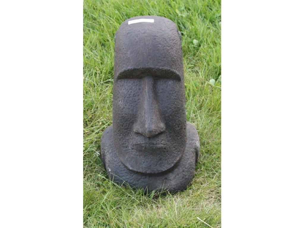 Socha VELIKONOČNÍ OSTROVY Moai 30cm patina DB