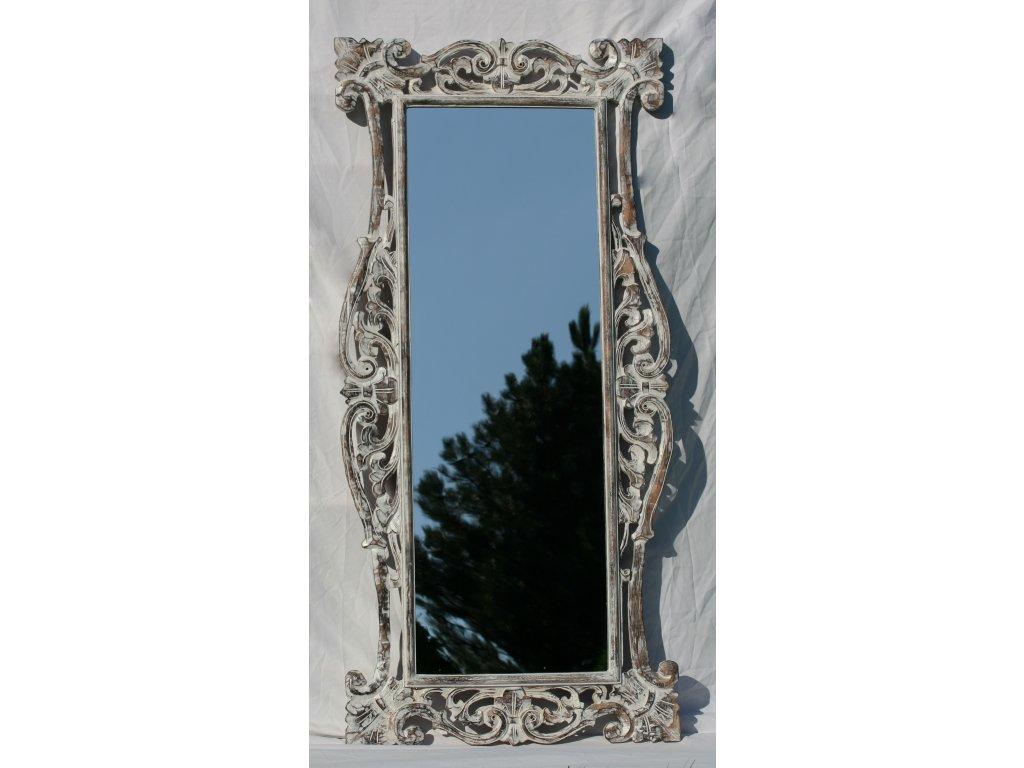 Dřevěné zrcadlo masiv s řezbou model 05 150x70cm