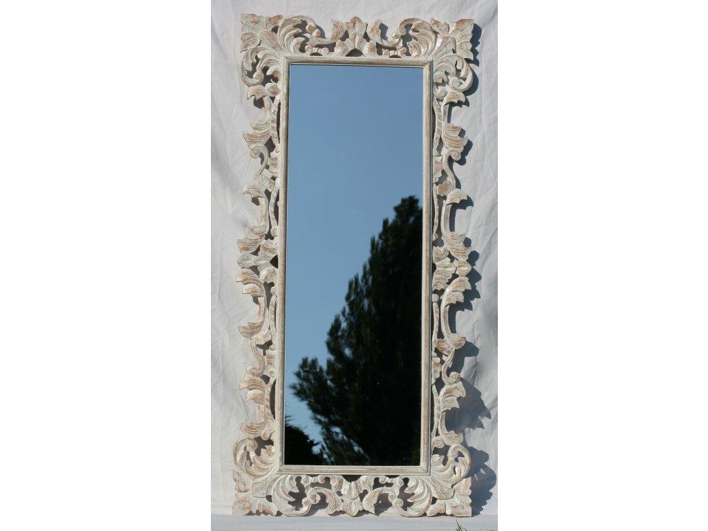Dřevěné zrcadlo masiv s řezbou model 06 150x70cm