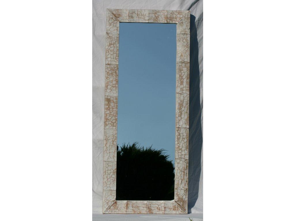 Dřevěné zrcadlo masiv s řezbou model 07 140x57cm
