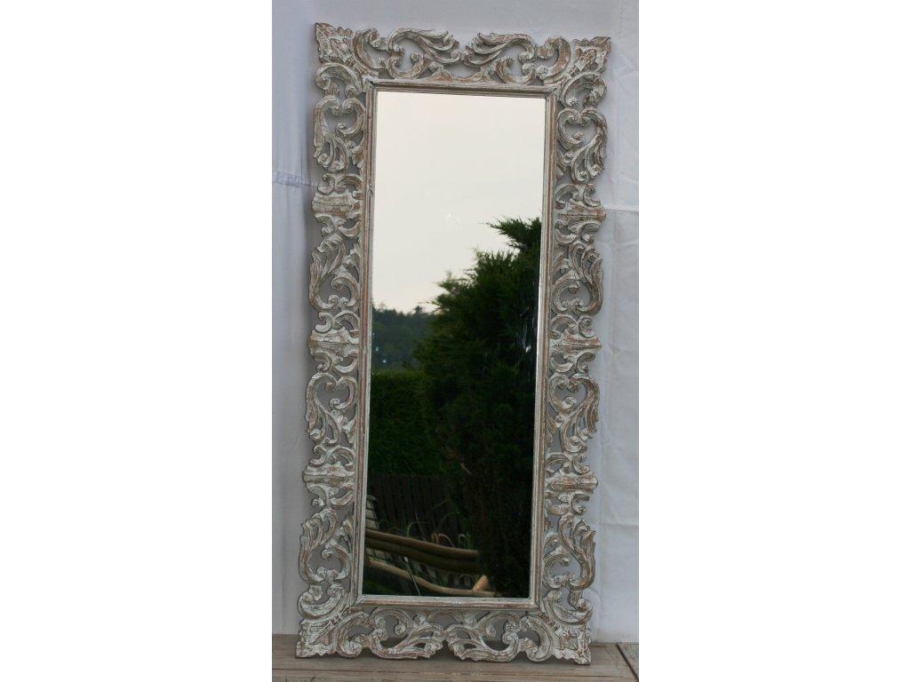 Dřevěné zrcadlo masiv s řezbou model 66 150x70cm