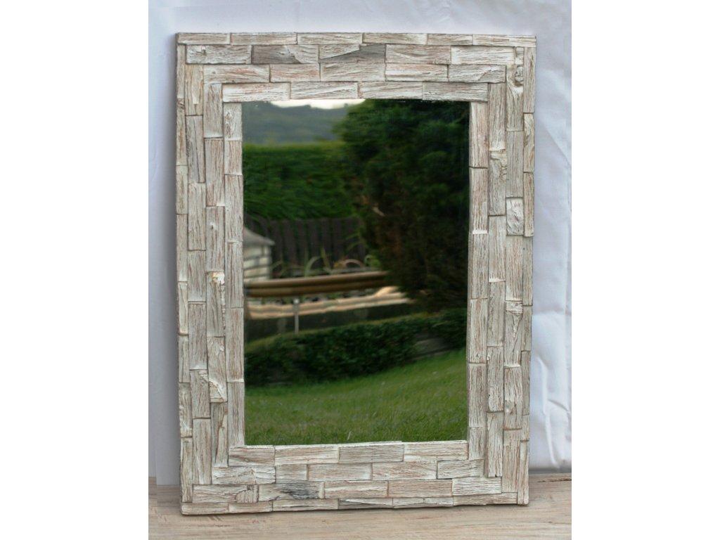 Dřevěné zrcadlo masiv teak model 68 120x80cm