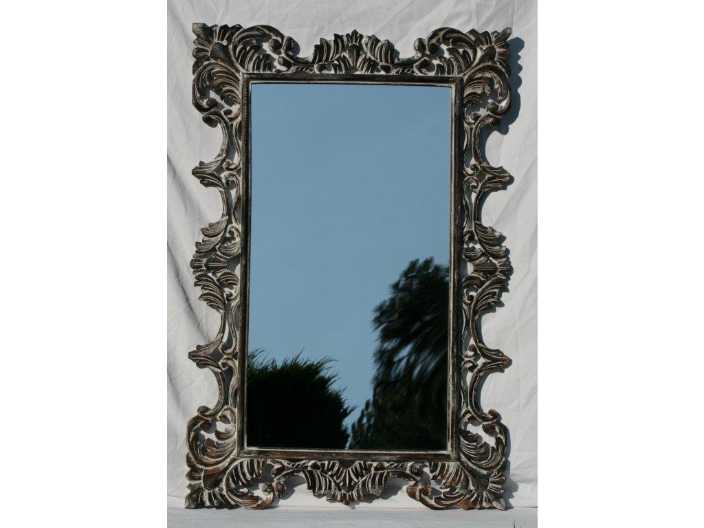 Dřevěné zrcadlo masiv s řezbou model 13 120x80cm