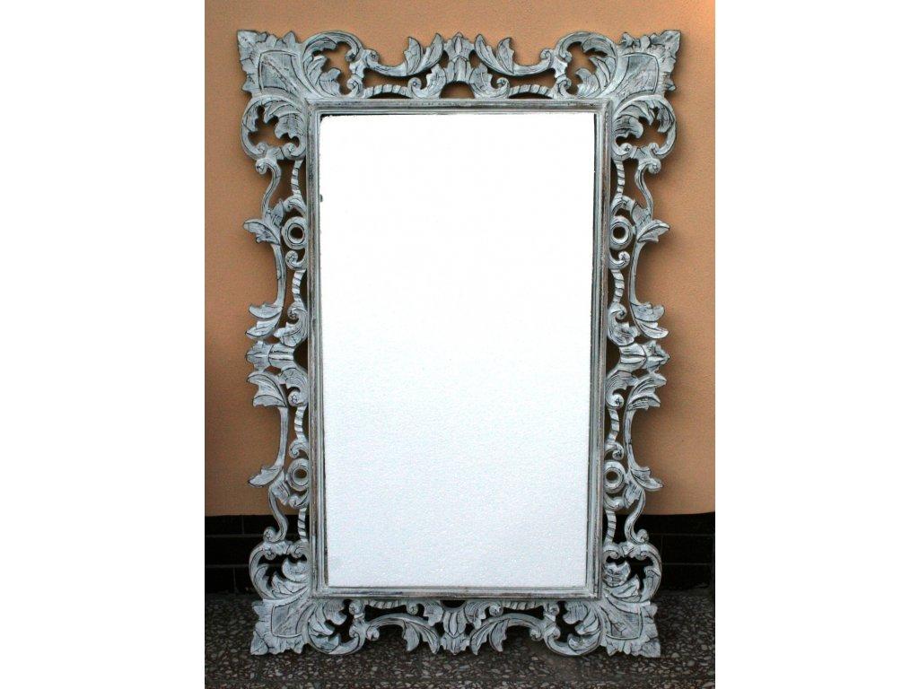 Dřevěné zrcadlo masiv s řezbou model 33 120x80cm