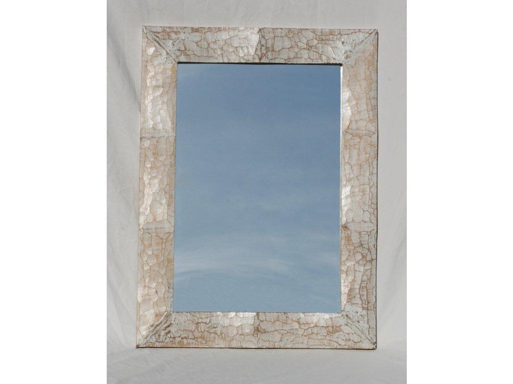 Dřevěné zrcadlo masiv s řezbou model 70 80x60cm