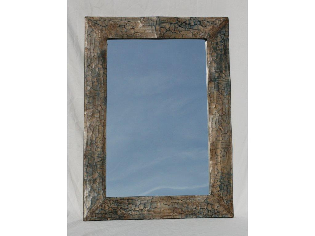 Dřevěné zrcadlo masiv s řezbou model 71 80x60cm