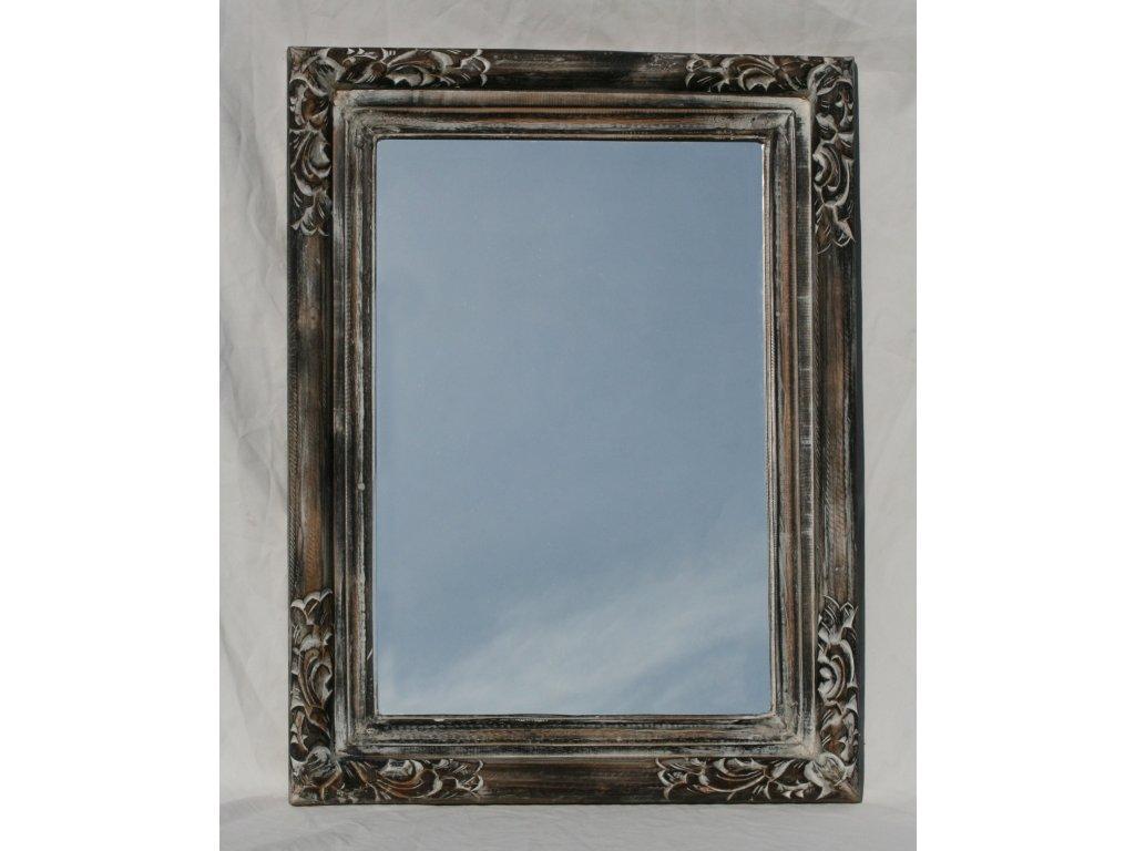 Dřevěné zrcadlo masiv s řezbou model 73 82x62cm model 73