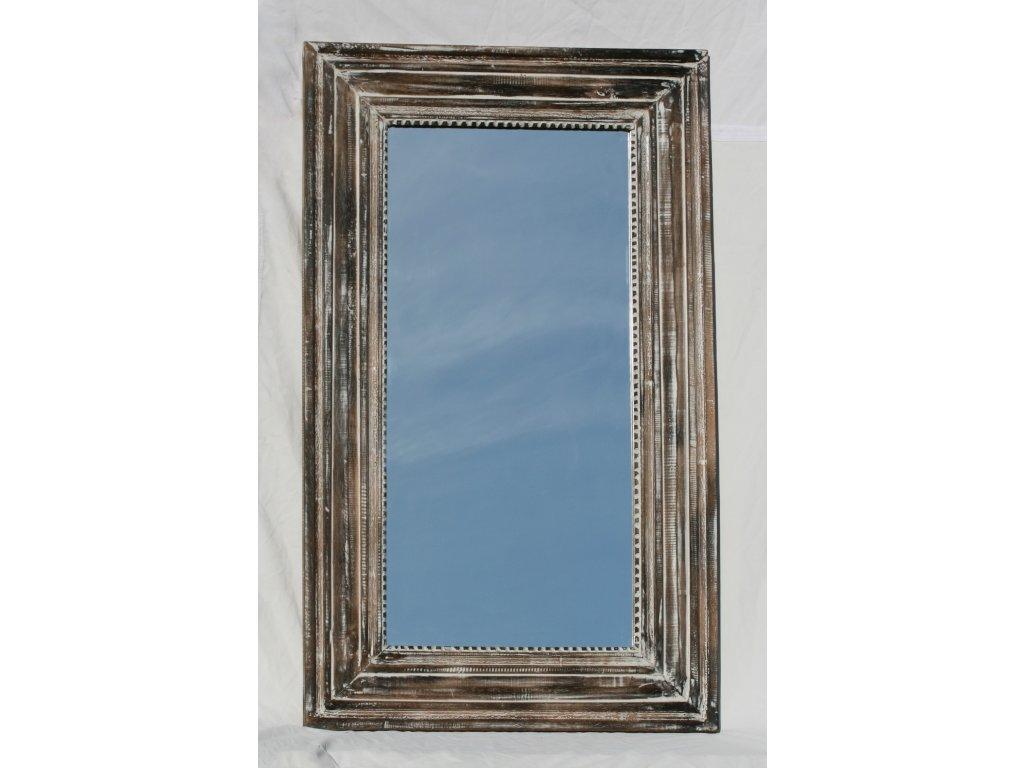 Dřevěné zrcadlo masiv s řezbou model 77 120x72cm