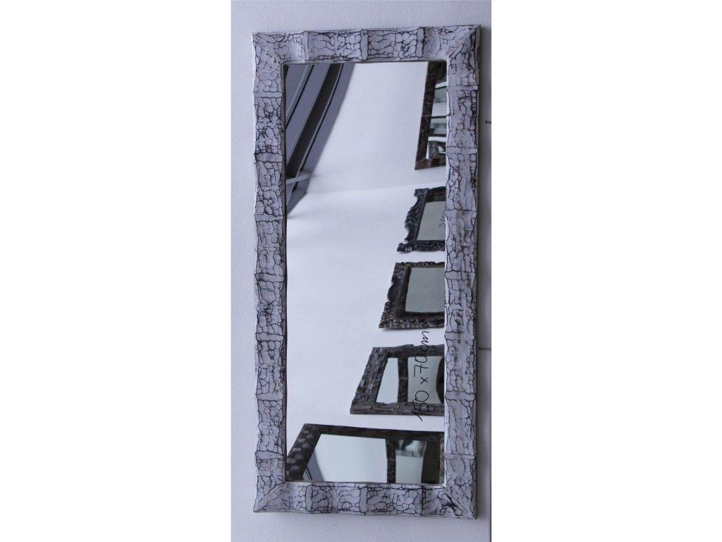 Dřevěné zrcadlo masiv s řezbou model 79 150x70cm