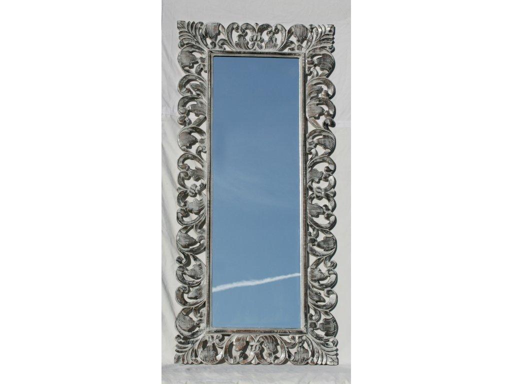 Dřevěné zrcadlo masiv s řezbou model 81 150x70cm