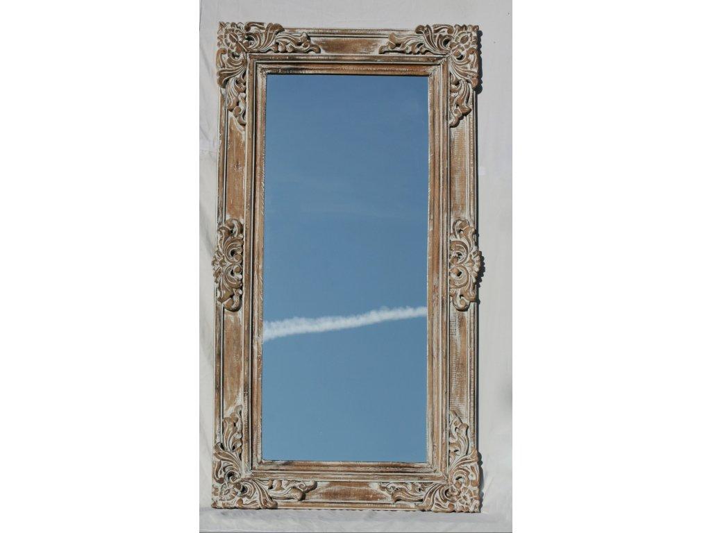 Dřevěné zrcadlo masiv s plastickou řezbou model 82 150x80cm