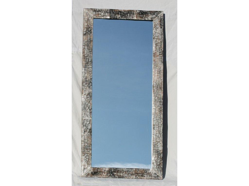 Dřevěné zrcadlo masiv s řezbou model 83 150x70cm