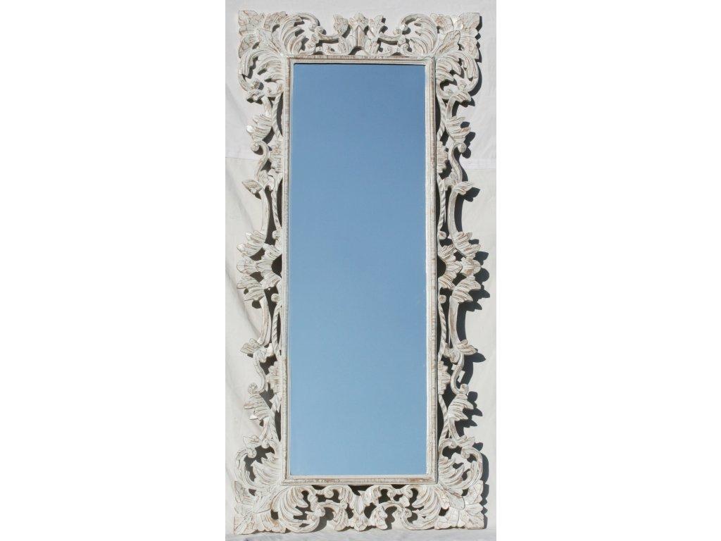 Dřevěné zrcadlo masiv s řezbou model 84 150x70cm