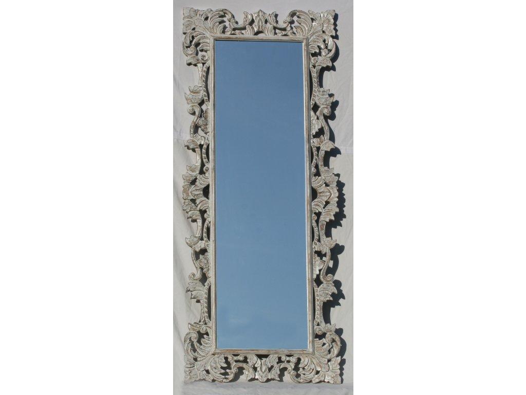 Dřevěné zrcadlo masiv s řezbou model 86 170x70cm